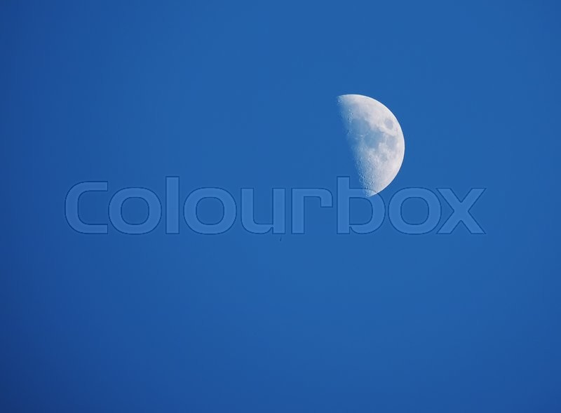 Stock image of 'The moon in the sky'