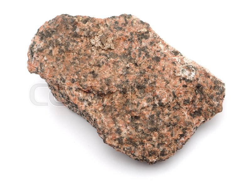 Stock image of 'granite on a white background '