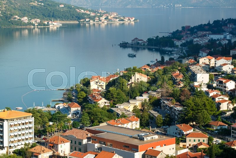 Stock image of 'Kotor bay in Montenegro, it boasts the preserved Venetian fortress, old tiny villages, medieval towns and scenic mountains'