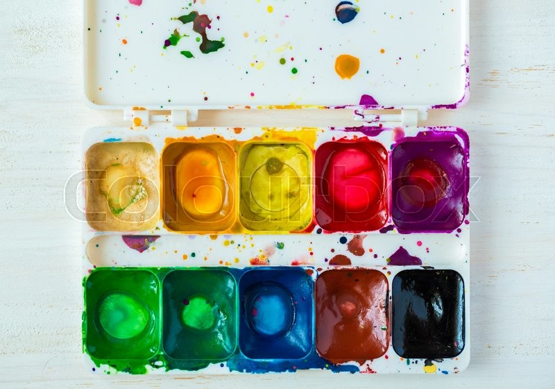 Stock image of 'Artist brush and paint. \Art of Painting'