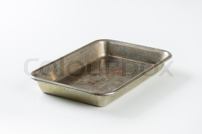 Stock image of 'Used roasting pan - no handles'