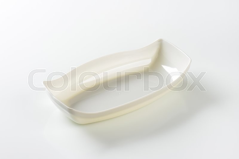 Stock image of 'Deep boat shaped serving dish'
