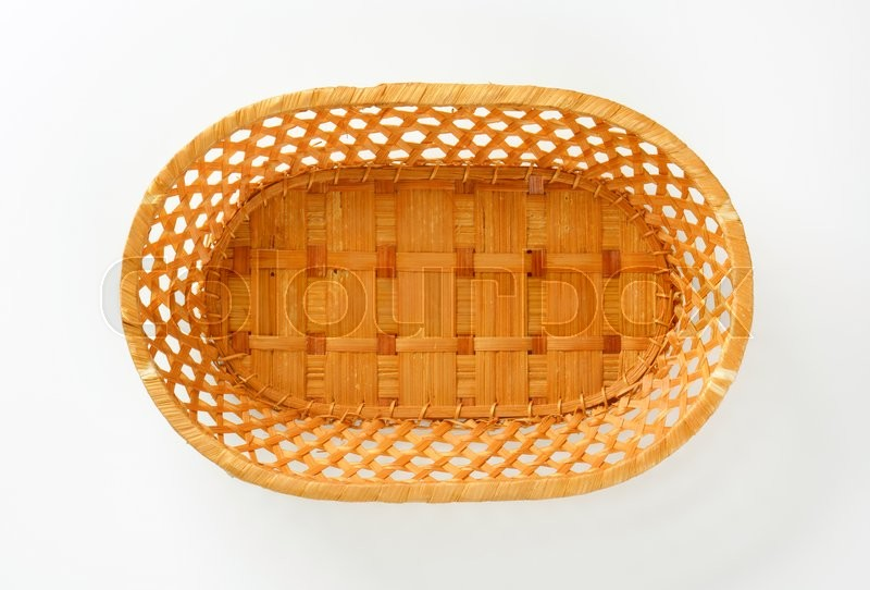 Stock image of 'Decorative wicker table basket for bread, sweets or fruits'