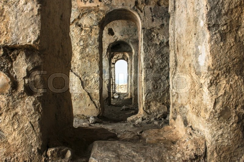 Stock image of 'archaeological site of the Temple of Jupiter Anxur on the Monte Sant'Angelo located near Rome'