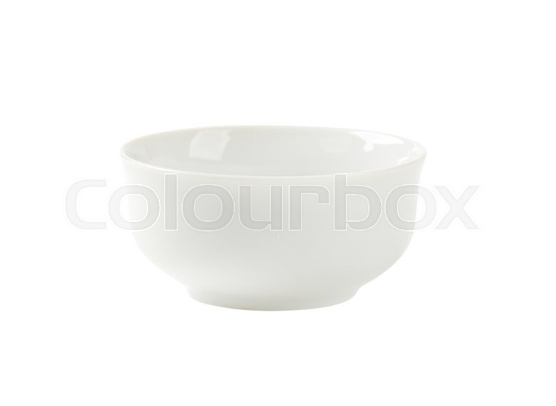 Stock image of 'Deep round white cereal bowl'