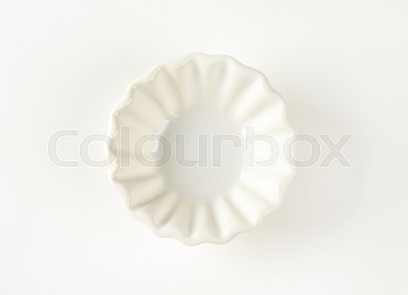 Stock image of 'Small fluted white snack bowl'