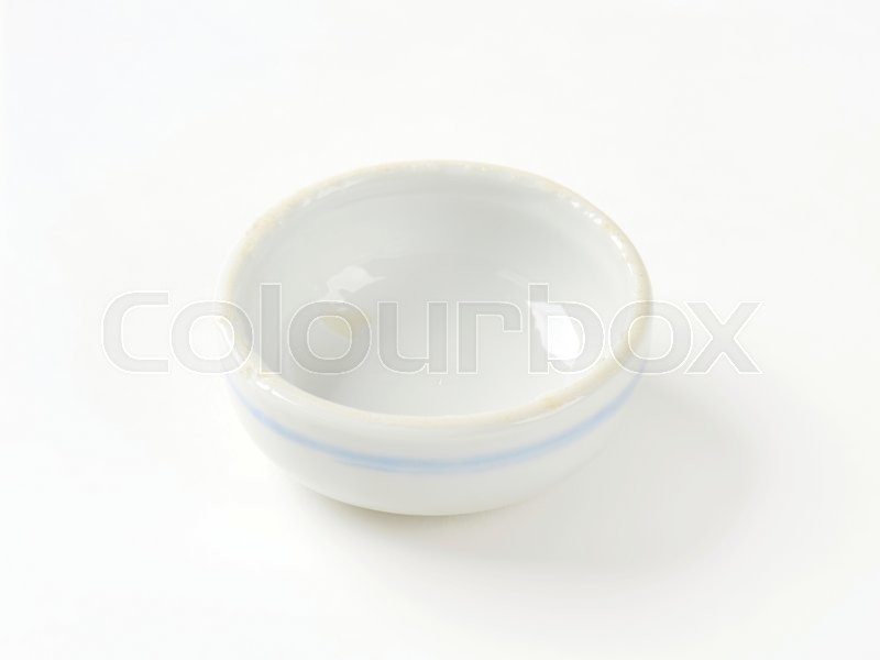 Stock image of 'Mini round soy sauce dish'
