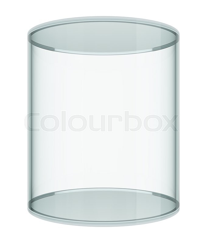 Stock image of 'Realistic empty glass showcase on white background. 3D illustration'