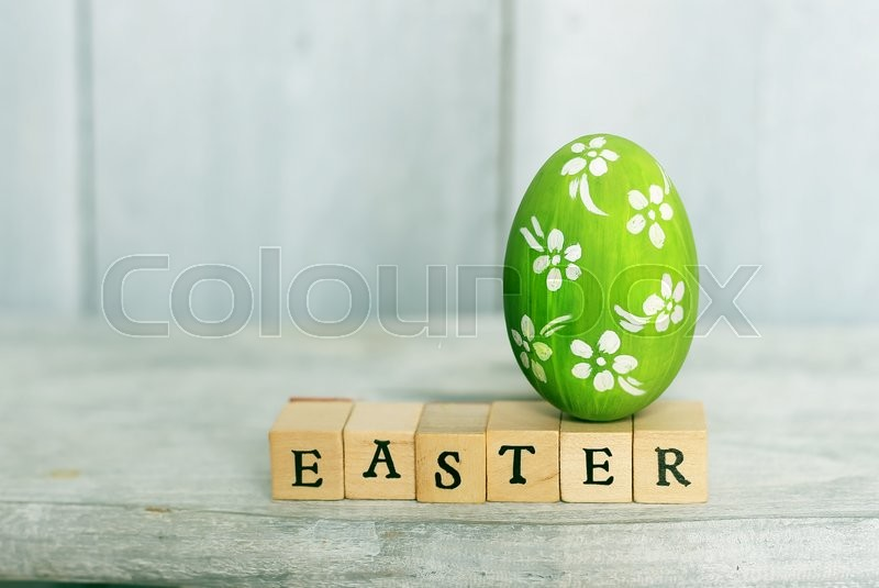 Stock image of 'Cute creative photo with easter egg'