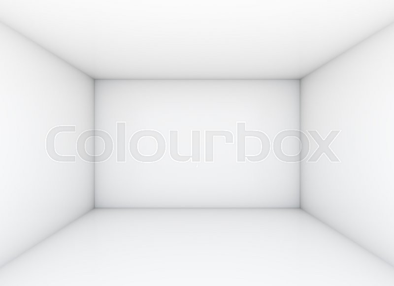 Stock image of 'Empty white room for exhibition. 3D illustration'