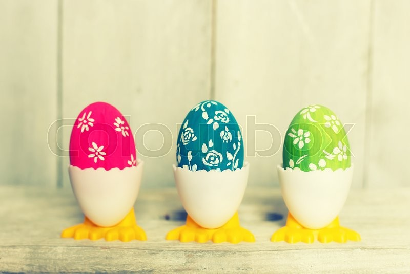 Stock image of 'Cute creative photo with easter eggs '