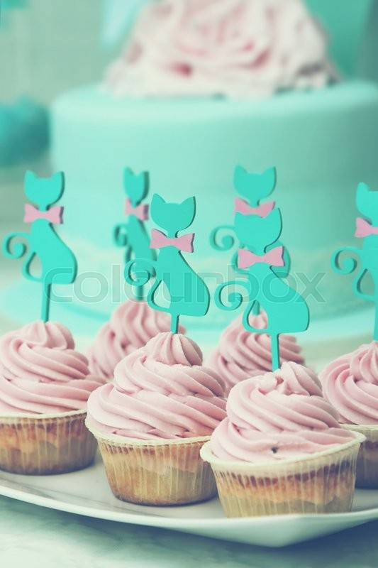 Stock image of 'Photo of cute cupcakes'