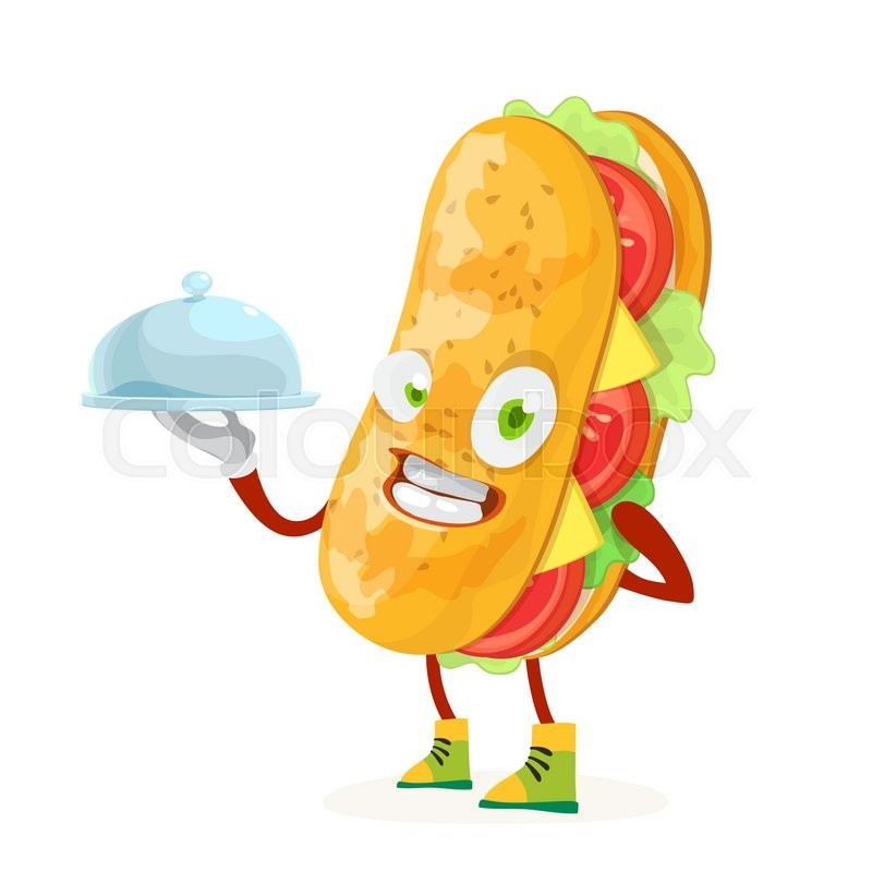 character mascot sandwich chef holding stock vector colourbox character mascot sandwich chef holding