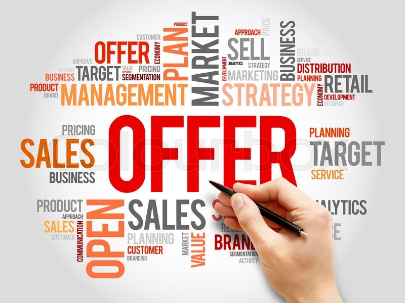 Stock image of 'Offer word cloud, business concept'