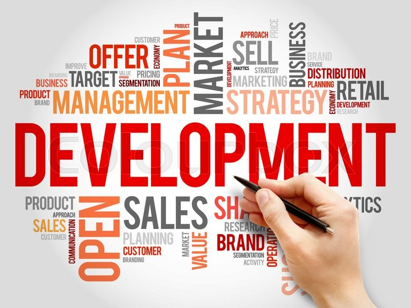 Stock image of 'Development word cloud, business concept'
