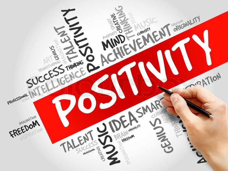 Stock image of 'Positivity word cloud, business concept'