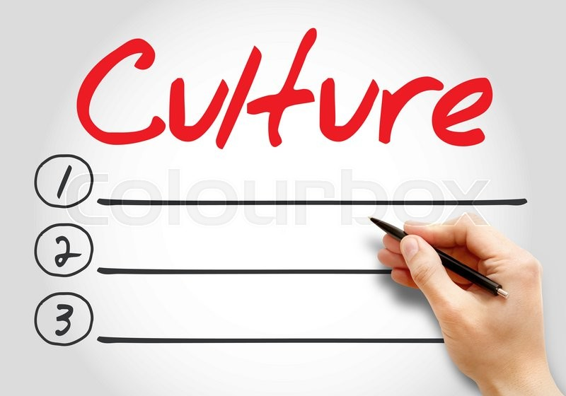 Stock image of 'Culture blank list, business concept background'