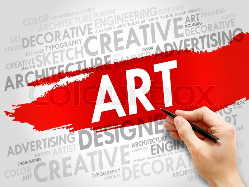 Stock image of 'ART word cloud, business concept'