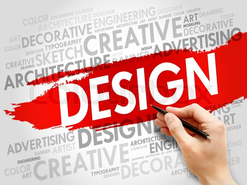 Stock image of 'DESIGN word cloud, creative business concept'