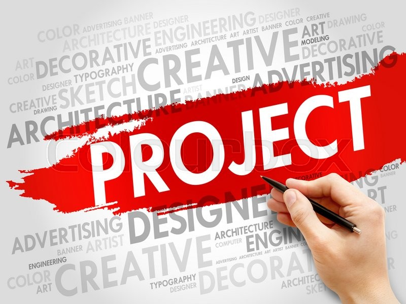Stock image of 'PROJECT word cloud, business concept'