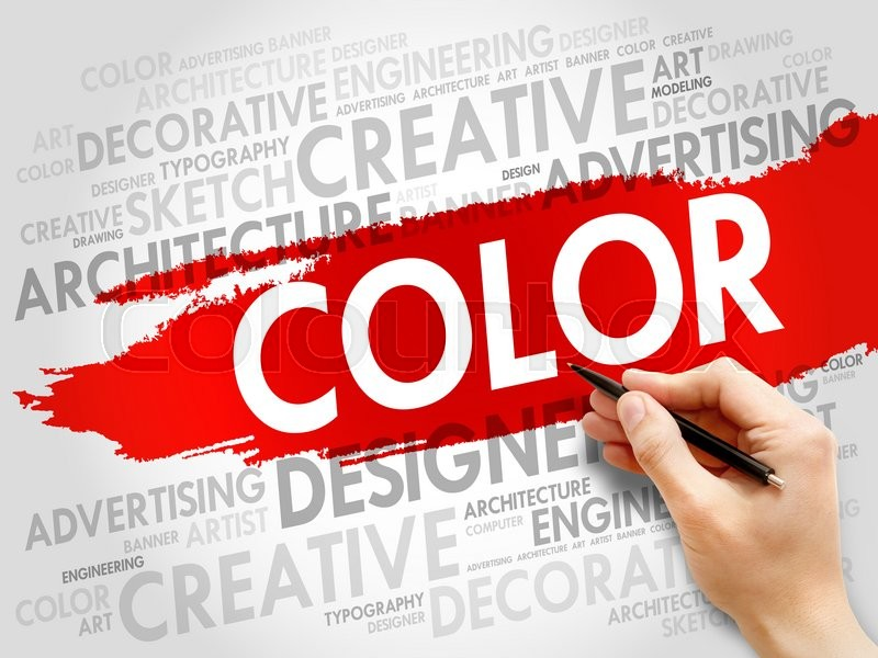 Stock image of 'COLOR word cloud concept'