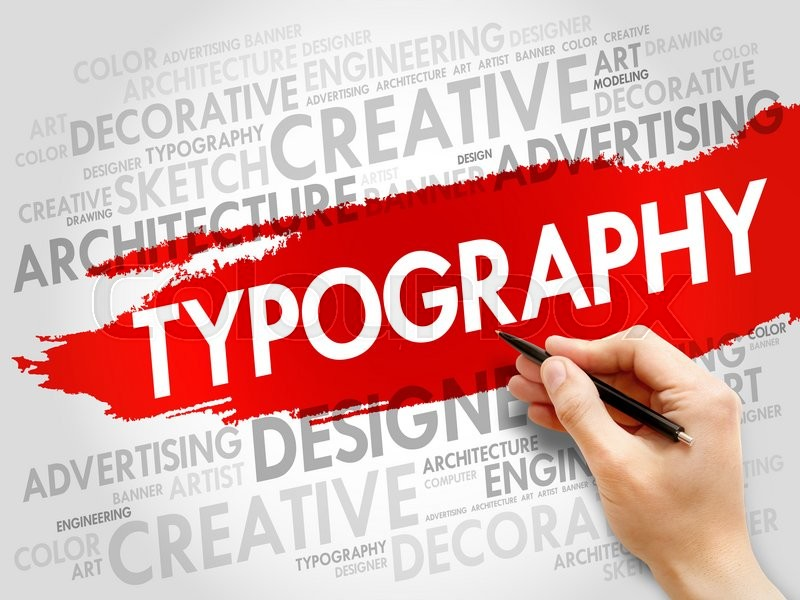 Stock image of 'TYPOGRAPHY word cloud, business concept'