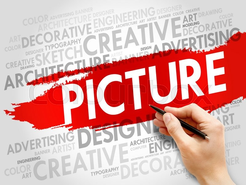 Stock image of 'PICTURE word cloud, business concept'