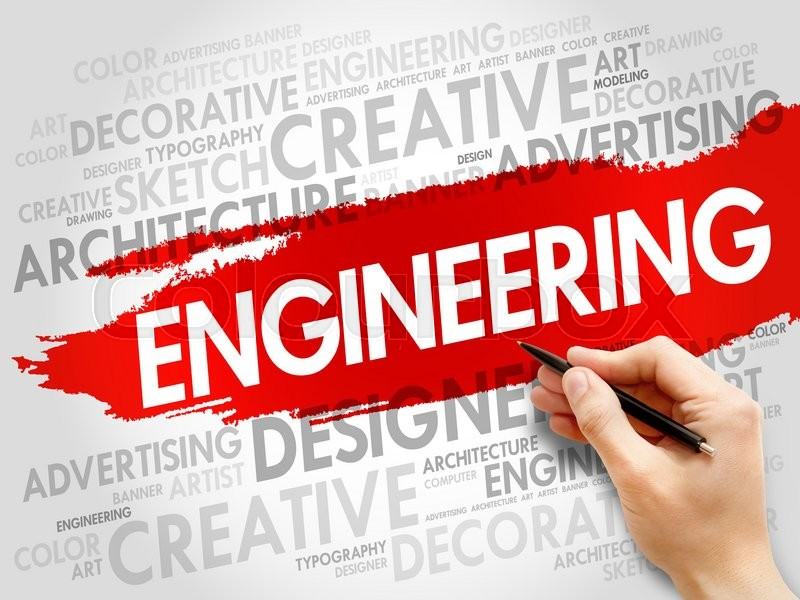 Stock image of 'Engineering word cloud concept'