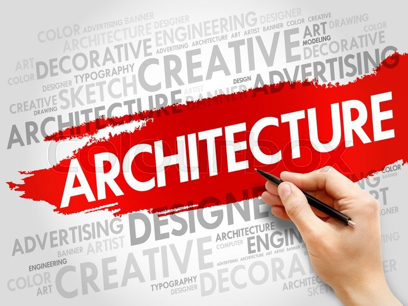Stock image of 'Architecture word cloud concept'