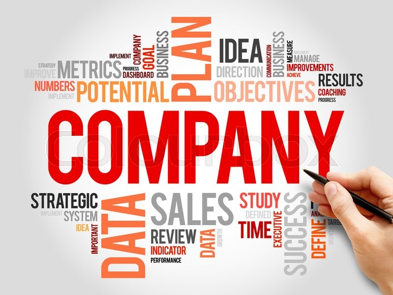 Stock image of 'COMPANY word cloud, business concept'