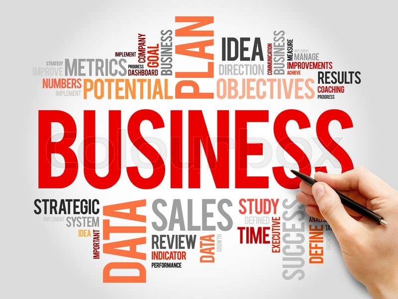 Stock image of 'Business word cloud, business concept'