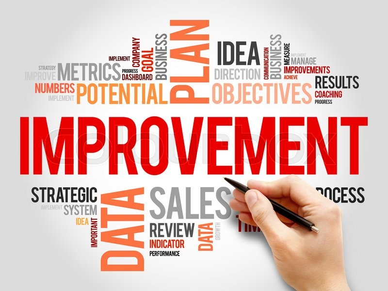 Improvement Word Cloud Business Concept Stock Photo