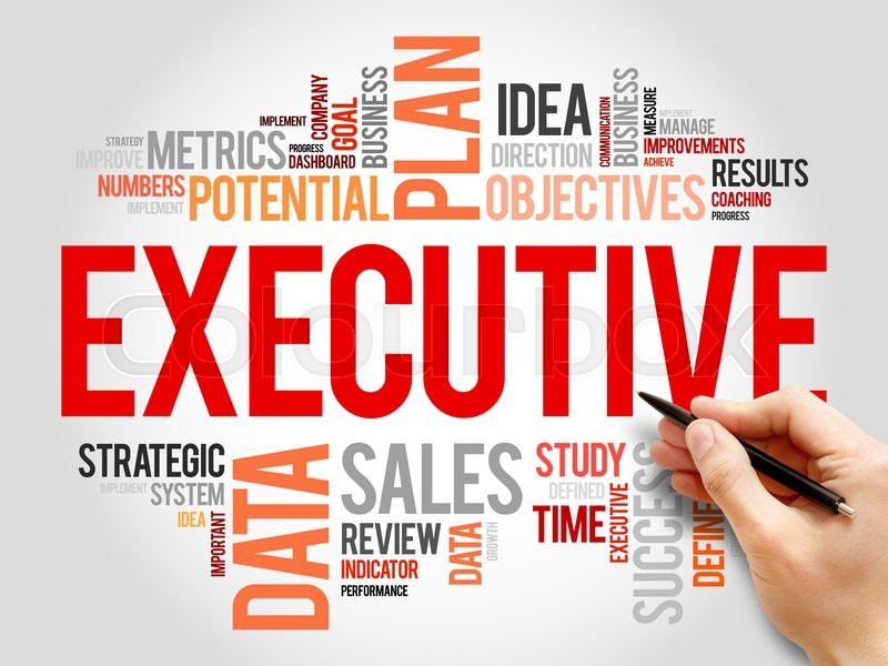 Stock image of 'Executive word cloud, business concept'