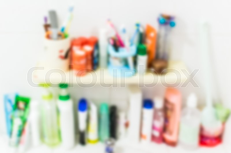 Stock image of 'Blurred sanitation product in the bathroom for background'