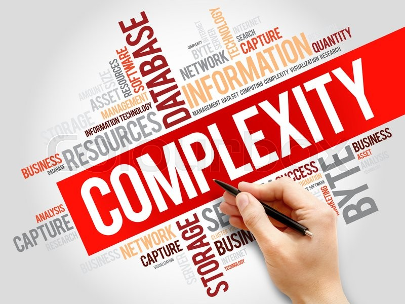 Stock image of 'Complexity word cloud, business concept'