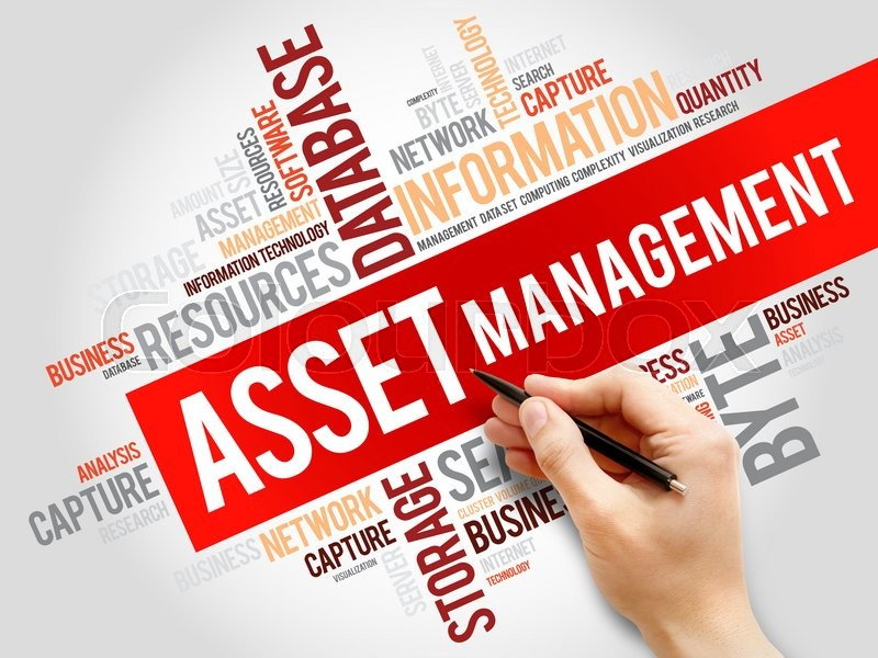 Stock image of 'Asset Management word cloud, business concept'