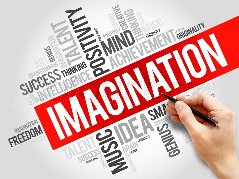 Stock image of 'Imagination word cloud, business concept'