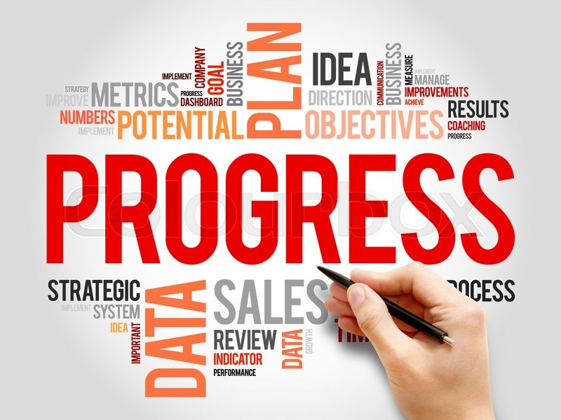 Stock image of 'Progress word cloud, business concept'