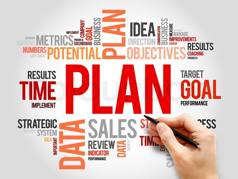 Stock image of 'Plan word cloud, business concept'
