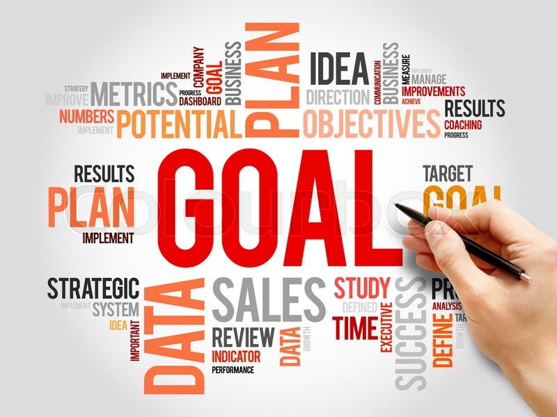 Stock image of 'Goal word cloud, business concept'