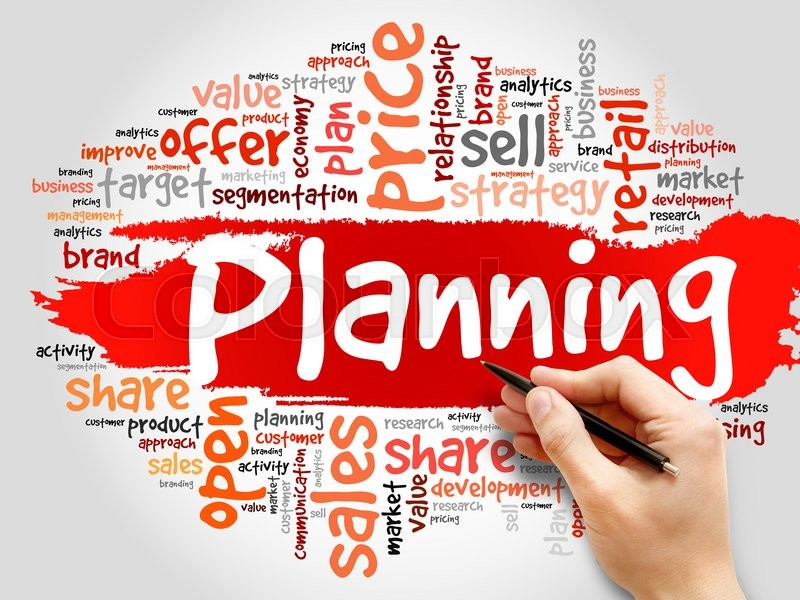 Stock image of 'Planning word cloud, business concept'