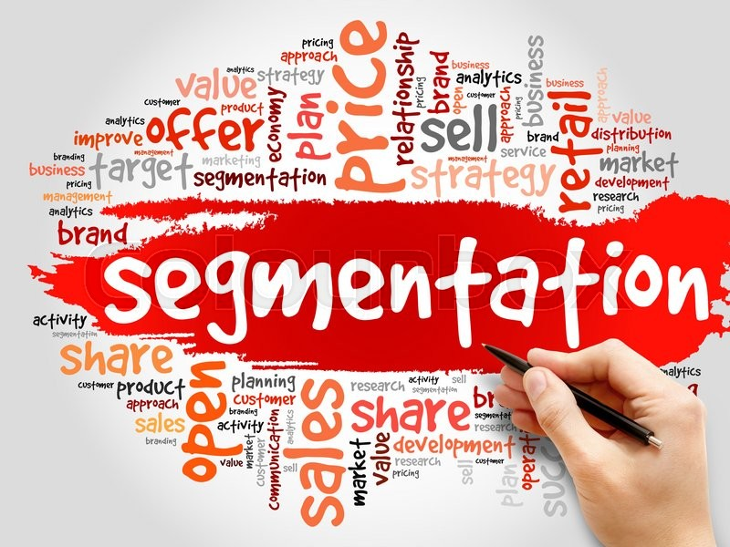 Stock image of 'Segmentation word cloud, business concept'