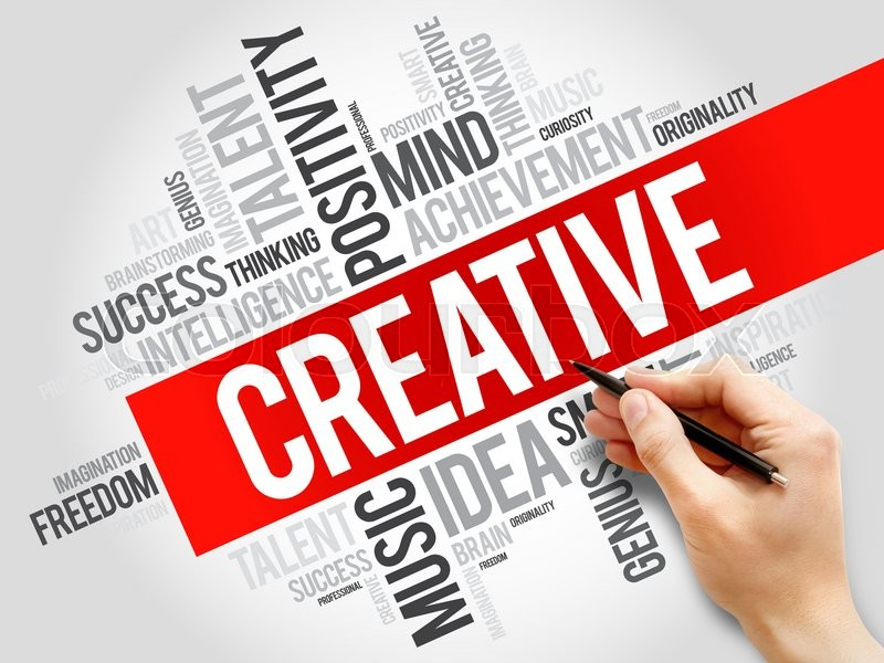 Stock image of 'Creative word cloud, business concept'