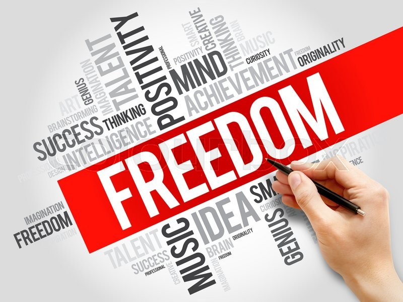 Stock image of 'Freedom word cloud, business concept'