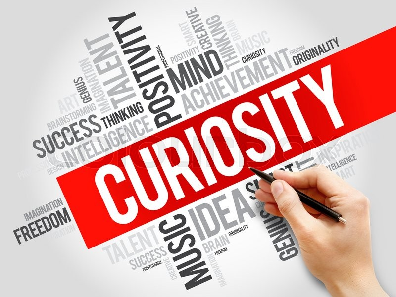 Stock image of 'Curiosity word cloud, business concept'