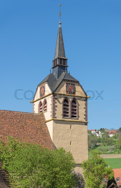 Editorial image of 'the Johanneskirche at a village in Hohenlohe named Baechlingen'