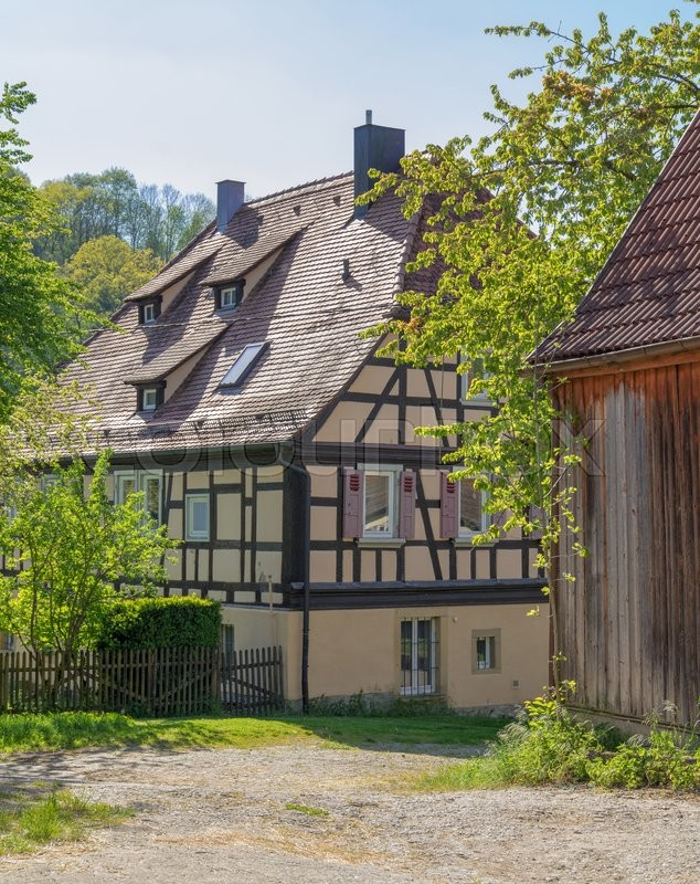 Stock image of 'idyllic scenery around a village in Hohenlohe named Baechlingen at spring time'
