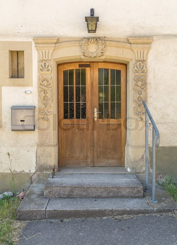 Stock image of 'historic house entrance at a village in Hohenlohe named Baechlingen'