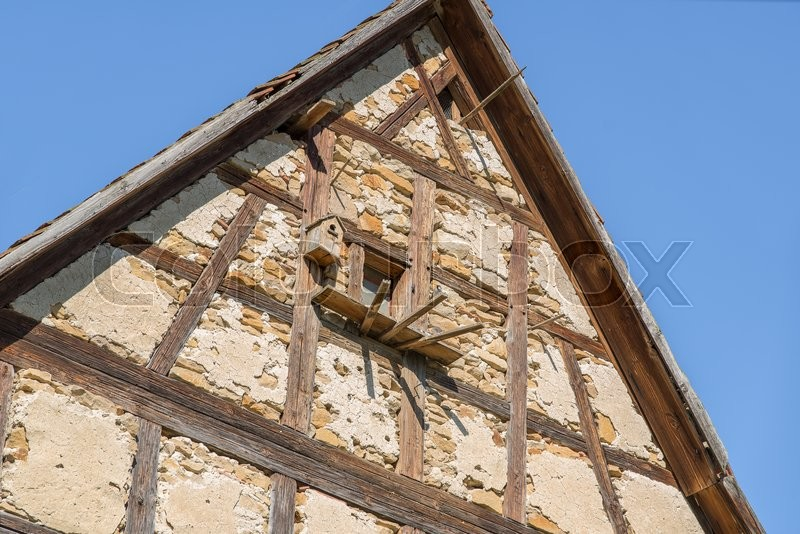 Stock image of 'architectural detail at a village in Hohenlohe named Baechlingen'