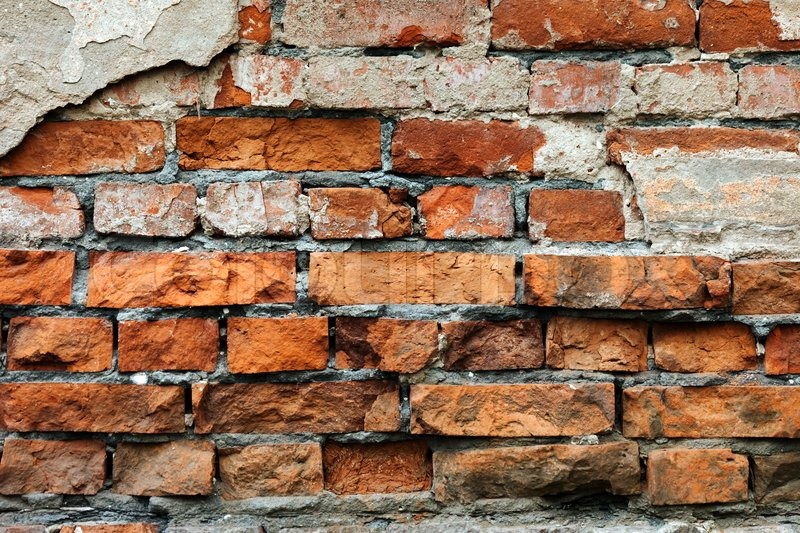 Cracked Brick Wall Urban City Building Background